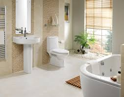 modern bathroom suites ideas with mosaic tile walls