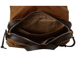 Filson Tin Cloth Cap Filson Tin Cloth Original Briefcase In Brown For Men Lyst
