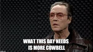 Christopher Walken Cowbell Meme - walken cowbell imgflip