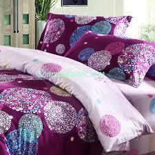 Polka Dot Bed Set 100 Cotton Luxurious Purple Polka Dot Collection 4 Bedding