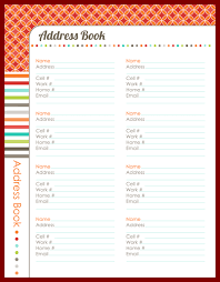 14 printable address book template sendletters info