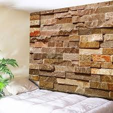 tapestry home decor 2018 brick wall hanging printed home decor tapestry brick red w