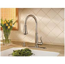 price pfister ashfield kitchen faucet brushed nickel ashfield 1 handle pull kitchen faucet gt529