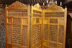 arabic style hand carved wooden room divider u2014 renaissance