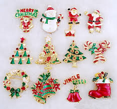 christmas accessories online cheap christmas rhinestone pins mixed different styles