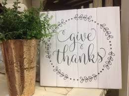 give thanks wood sign rustic wood pallet sign home decor wall