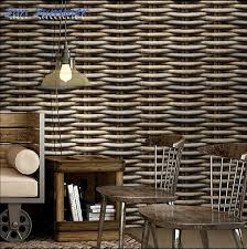 style vintage straw braid rattan stripe wallpaper bamboo