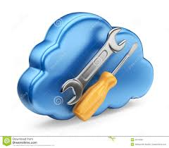 3d cloud and repairing tools stock illustration image 53108780