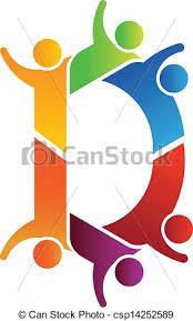 vector of alphabet teamwork letter d csp14252589 search clip art