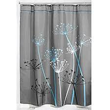 Amazon Extra Long Shower Curtain Amazon Com Interdesign Thistle Fabric Shower Curtain Long 72 X