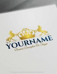 free logo maker create your own crown unicorn logo design