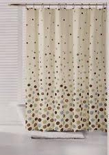Shower Curtain Blue Brown Polka Dot Supreme Polyester Fabric Shower Curtain 60x72 Inch Ebay
