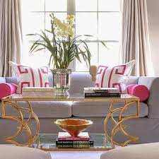 Grey And Gold Living Room Pink And Gray Living Room Contemporary Living Room Rue Magazine