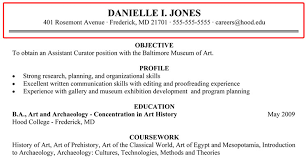 writing your resume hood college