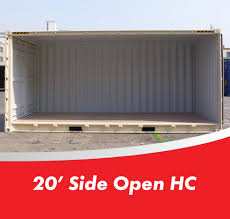 used 20 foot high cube side opening shipping containers for sale