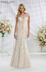 ronald joyce dress ella 69007 lace over organza and satin with