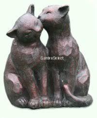 garden ornaments cats