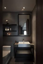 Slate Bathroom Ideas by Charcoal Tile Bathroom