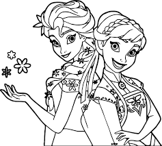 frozen fever and anna snow coloring page wecoloringpage