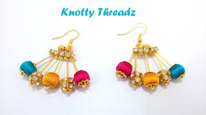 earrings pictures diy how to make designer silk thread earrings using at