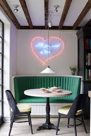 small dining room ideas diner inspired green leather banquette small dining room ideas