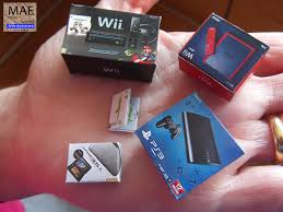 ps3 gaming console set consoles boxes miniature wii mini 3ds xl ps3