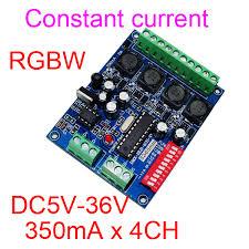 dmx light board controller 4 channel dmx512 decoder 350ma rgbw controller led stage lighting