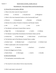 eastern and western ghats the coastal plains and the island groups of india worksheet 1