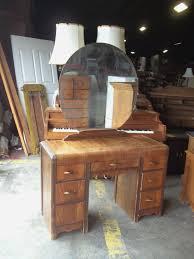 Vanity Dresser With Mirror Antique Vanity With Round Mirror Great Antique Waterfall Vanity