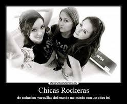 imagenes de chavas rockeras chicas rockeras desmotivaciones