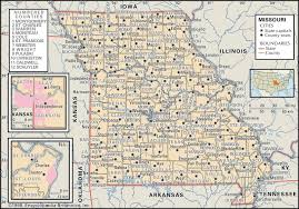 State Map Of United States by State And County Maps Of Missouri