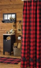 Cabin Shower Curtains Why I Not Thought Of The Flannel Plaid Theme Pinteres