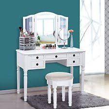 Vanity Folding Mirror Songmics Vanity Set Tri Folding Mirror Make Up Dressing Table