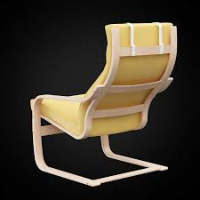 poltrona poang ikea 3d ikea poang chair high quality 3d models
