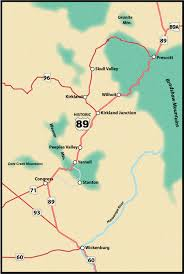 Prescott Arizona Map by Wickenburg To Prescott Us Route 89