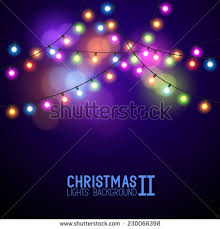 colourful glowing christmas lights vector illustration stock