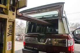 nissan titan pop up camper a r e tonneau and dcu installed on 2017 nissan titan xd cummins
