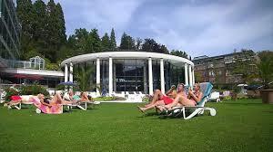 Caracalla Therme Baden Baden Outdoor Pools At Caracalla Spa Baden Baden Youtube