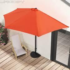 Circle Patio Furniture by Circular Patio Furniture Semi Circular Parasol Umbrella Balcony