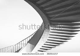 black white spiral stairs abstract round stock photo 360511217