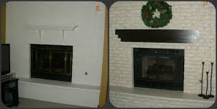 Brick Fireplace Paint Colors - fireplace decorating an amazing new look on a previously painted
