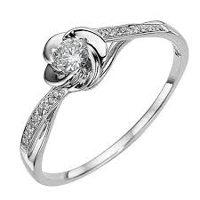 inel de logodna aur alb inel de logodna cu model floare