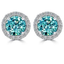 blue diamond stud earrings 77 best diamond earrings images on diamond earrings