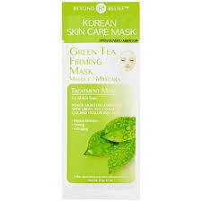beyond belief korean skin care mask green tea essence