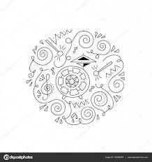doodle drum coloring page u2014 stock vector yorri 153368228