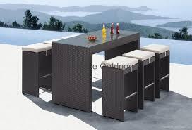 Rattan Bar Table Patio Bistro Set Rattan Bar Table And Chair Fo U01 Sunshine