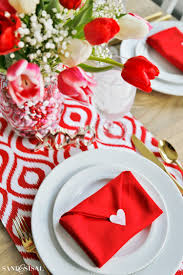 Valentines Day Tablescapes Valentine U0027s Day Table Setting With Envelope Napkin Fold
