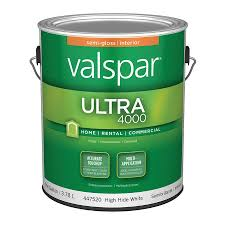 Valspar Kitchen And Bath Enamel by Shop Valspar Ultra 4000 High Hide White Semi Gloss Latex Interior