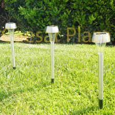 landscape path light 15 outdoor stainless steel led warm white solar landscape garden