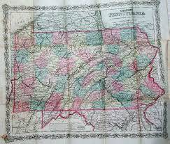 Map Of Pennsylvania Turnpike by An Overview Of Pennsylvania Mapping Circa 1850 To 1900
